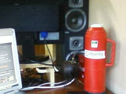 Mate y nuestros 'speakers' pa cucha musica